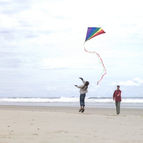 Kite flying is one of the most popular summer activities on Rockaway's beaches.
