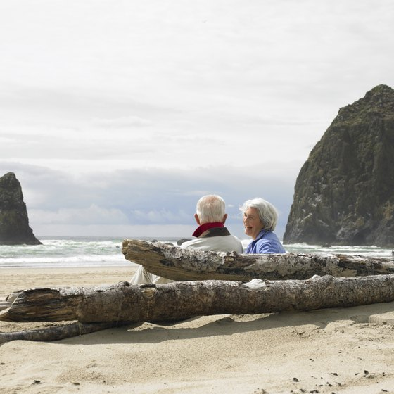 Haystack Rock on Cannon Beach is one of Oregon's top beach destinations.