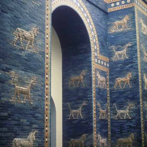 The Ishtar Gate was one of the principal entrances into the ancient city of Babylon.