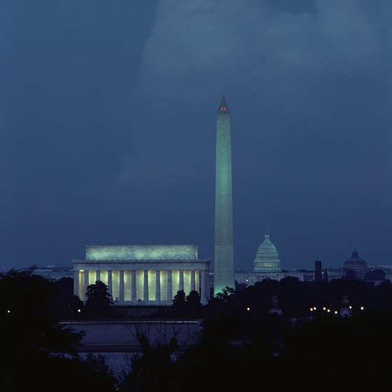 Don't miss an evening tour of the nation's monuments and memorials.