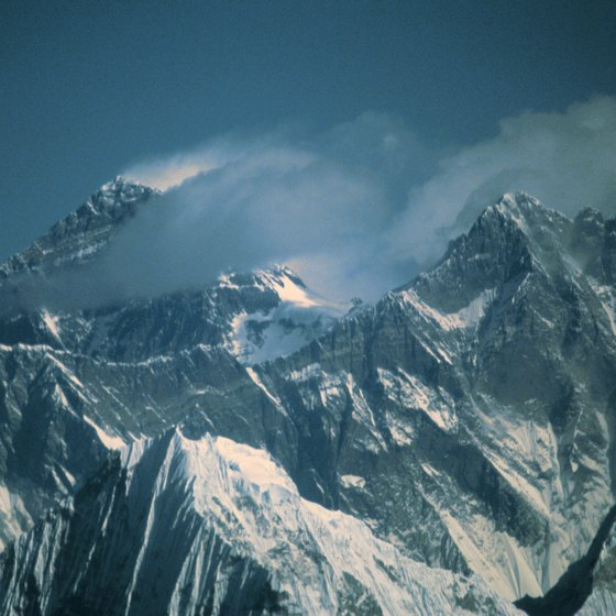 Himalayan peaks are frequently shrouded in clouds.
