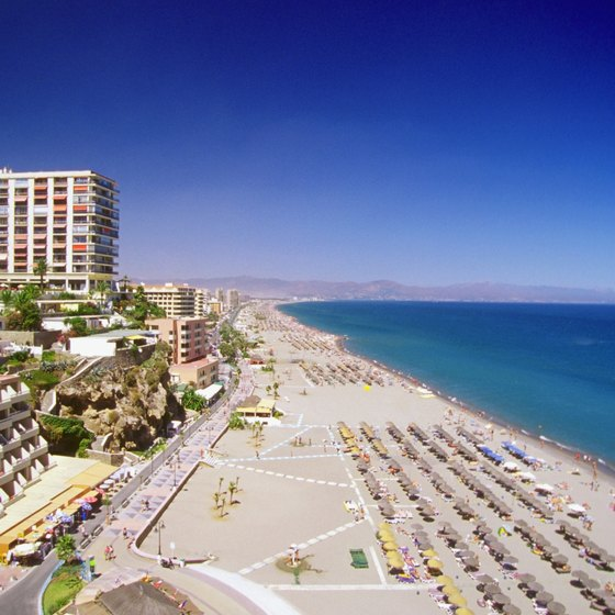 Torremolinos, Spain, is a popular beach destination.