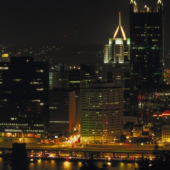 Pittsburgh skyline at night.