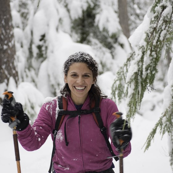 Snowshoeing is among favored winter pastimes in St. Cloud.