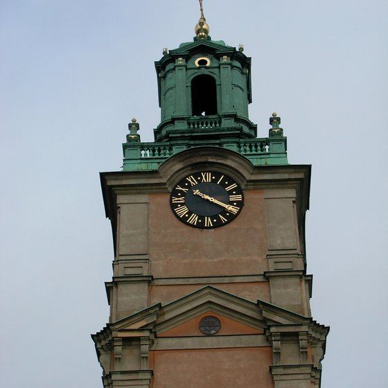 The Storkyrkan's cathedral clock tower represents almost three centuries of Stockholm history.