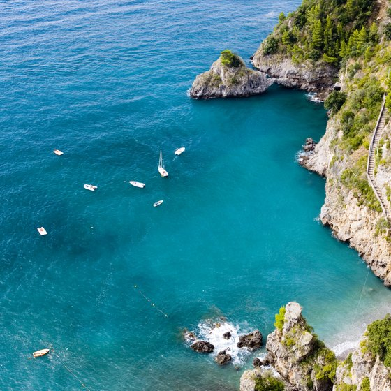 The stunning Amalfi coast is home to a number of luxury beach resorts.