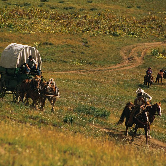 The Oregon Trail's first travelers headed west in 1841.