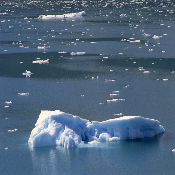 Kayakers in Prince William Sound can see icebergs.
