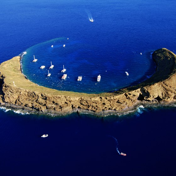 Molokini Island is one of Maui's top snorkeling and swimming locations.