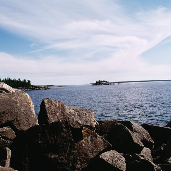 Lake Superior forms part of Ontario's border with the United States.