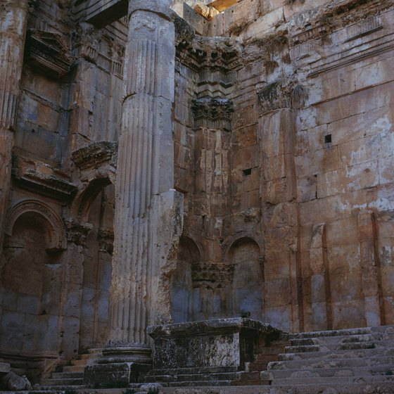 The ruins in Lebanon reflect occupation by four world powers and two major faiths.