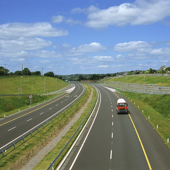 Driving on one of Ireland's well-maintained roads can be the easiest way to travel to Knock.