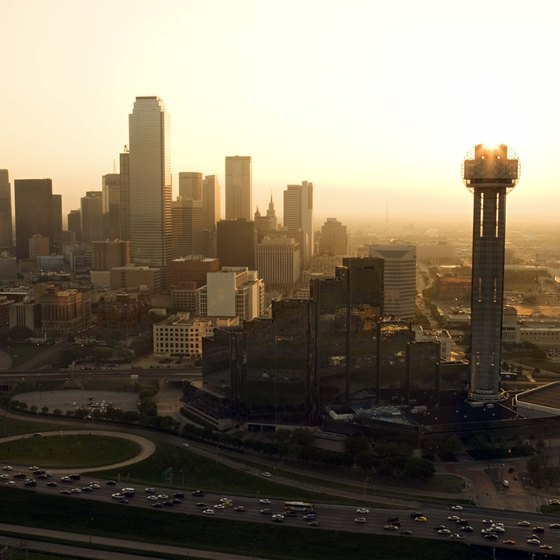 The Geo-Deck on top of the Reunion Tower (right) is a prime spot from which to view Dallas.