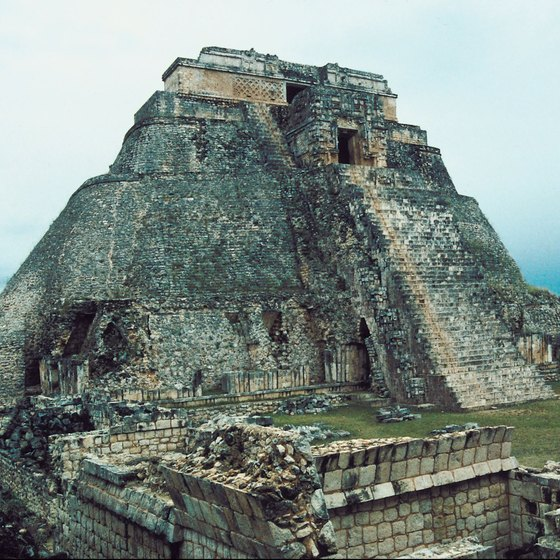 The Pyramid of the Magician dominates the horizon in the ancient city of Uxmal about 90 minutes from Progreso.