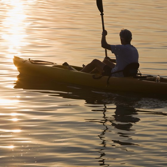 Kayaking is a water sport that can be enjoyed on lakes, rivers and the ocean.