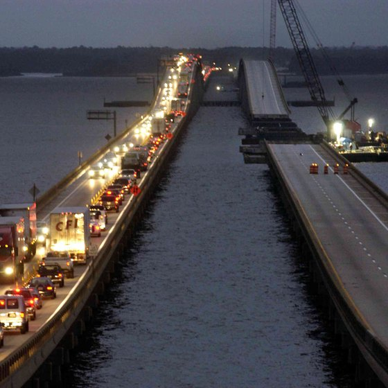 Hurricane Ivan inflicted significant damage on the Pensacola Bay Bridge in 2004.