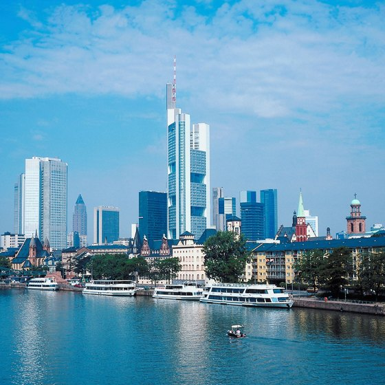"Frankfurt's skyscraper-filled skyline has earned it the nickname ""Mainhattan."""