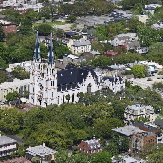 Cathedral of St. John the Baptist is an example of Savannah's varied architecture.