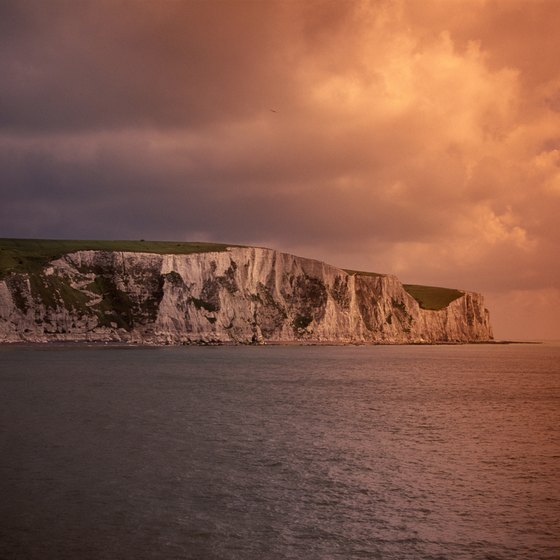 The White Cliffs of Dover, best viewed from the English Channel.