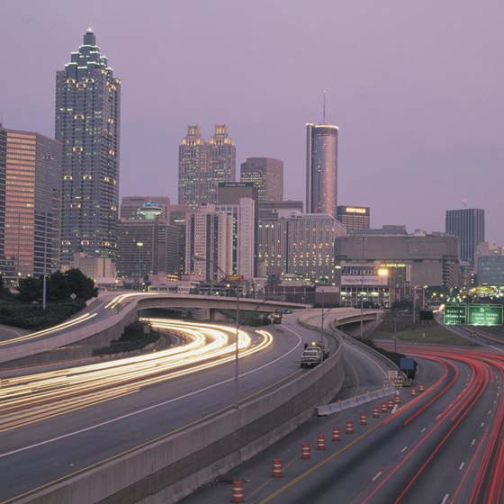 Several small cities are within a three-hour train ride of Atlanta.