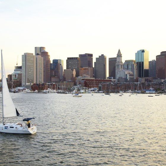 The city of Boston can easily be seen from the Winthrop coast.