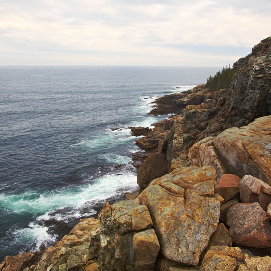 Maine's coast offers scenic destinations such as Acadia State Park.
