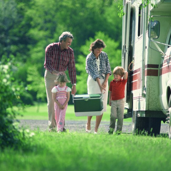 Take your RV or tent to Roaring River State Park.