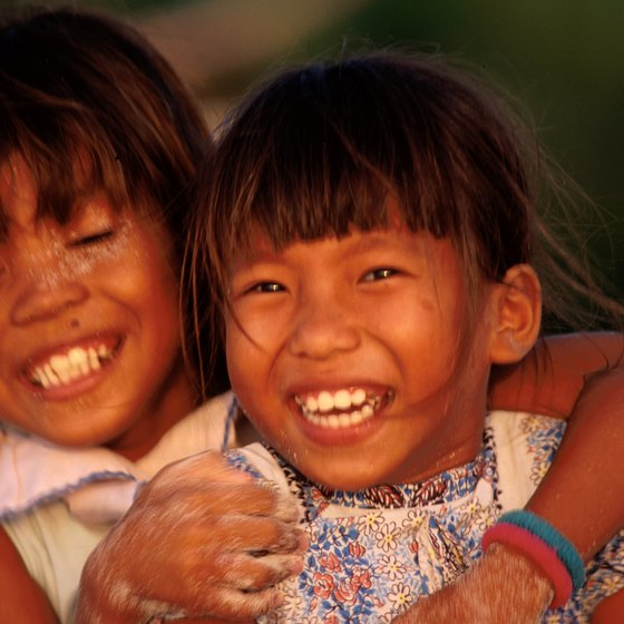 Children are a part of many celebrations and festivals in the Phillippines.
