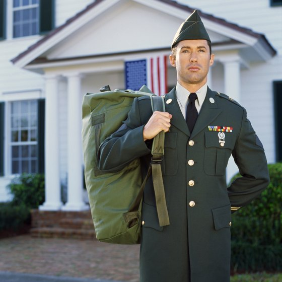 Army duffle bags are top-loading, expandable and feature an easy-to-carry shoulder strap.