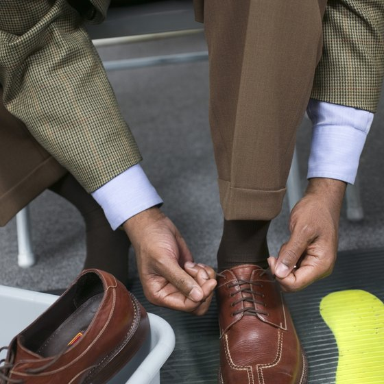 Retying your shoes after going through security can be a hassle.
