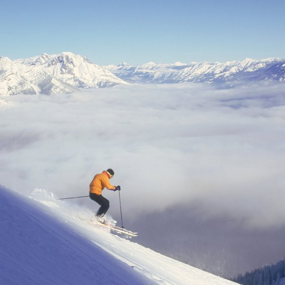 Skiing is one of the tourist attractions in British Columbia.
