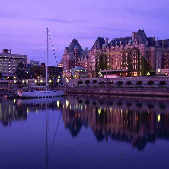 The Empress Hotel is in Victoria's Inner Harbor.