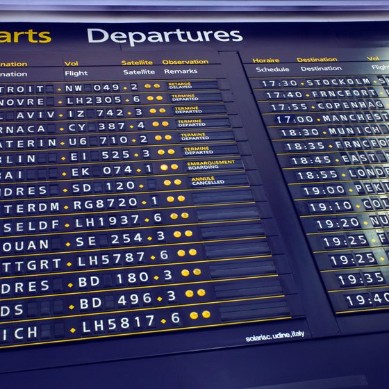 The majority of overseas flights to Paris arrive into Charles de Gaulle Airport.
