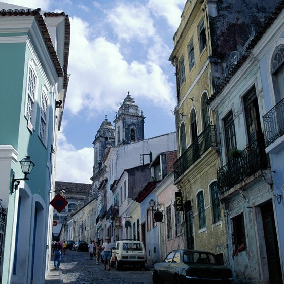 Salvador boasts attractive architecture right on the Brazilian coast.