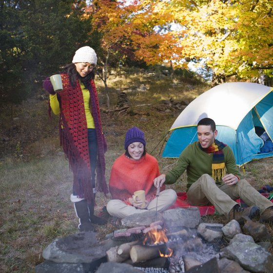 Camping is a popular activity in Michigan's Upper Peninsula.