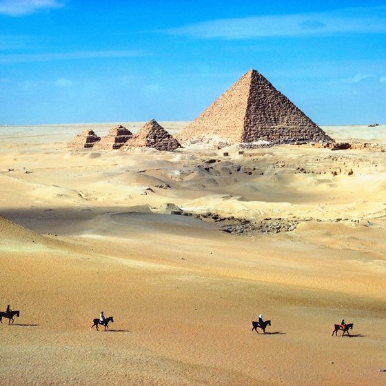 Some backpacking tours whisk you through Egypt on camels, donkeys and horses.