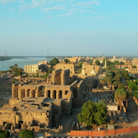 Many of Egypts archaeological treasures can be viewed from a Nile cruise boat.