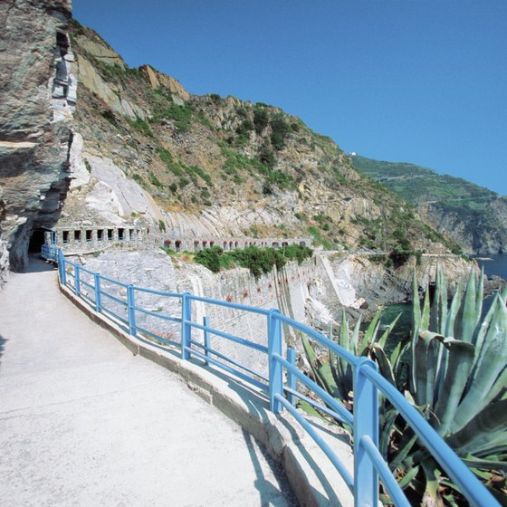 Walking paths connect each of the Cinque Terre towns.