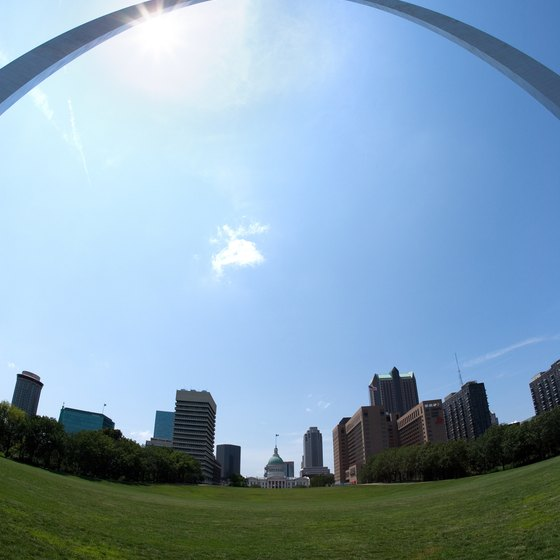 The Gateway Arch over St. Louis.