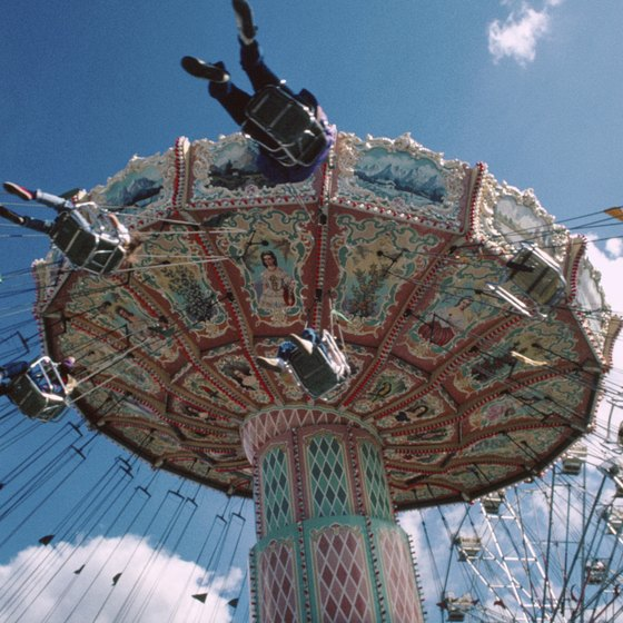Carnival rides are a big attraction at some festivals near Warminster, Pennsylvania.