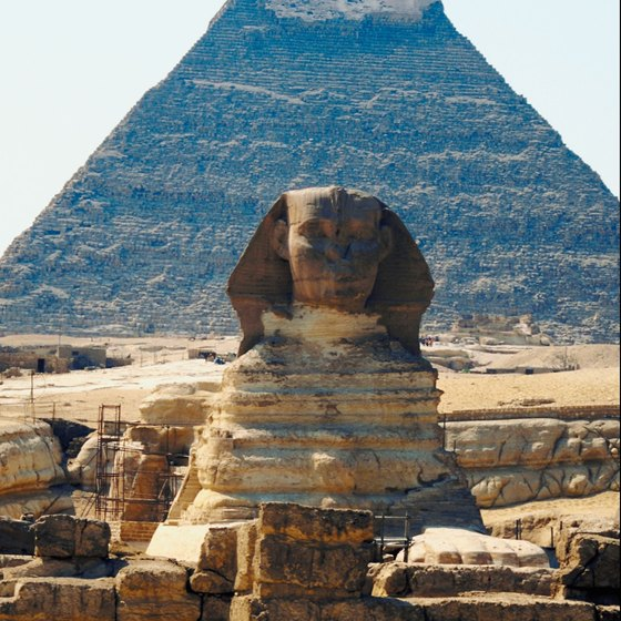 A limited number of people are allowed to enter the Great Pyramid every day.