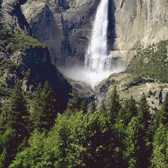 Schedule a hike to view Yosemite Valley's waterfalls and granite cliffs.