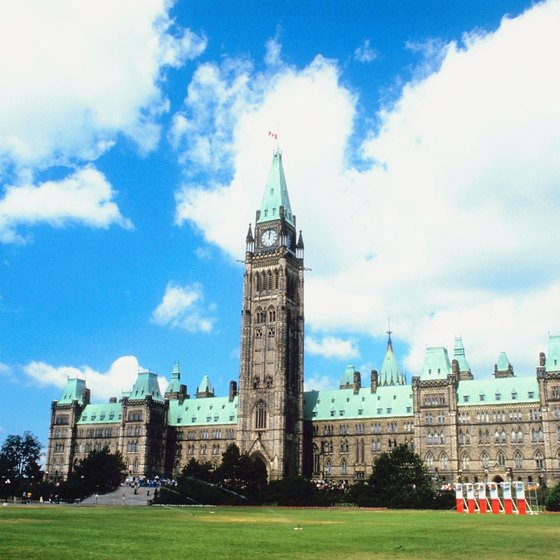 The Peace Tower is a highly recognizable landmark on Parliament Hill in Ottawa.