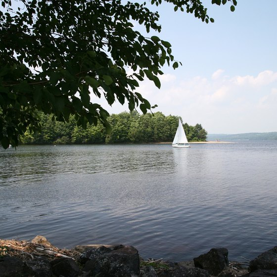 Many of Ohio's lakes offer boat-in campsites.