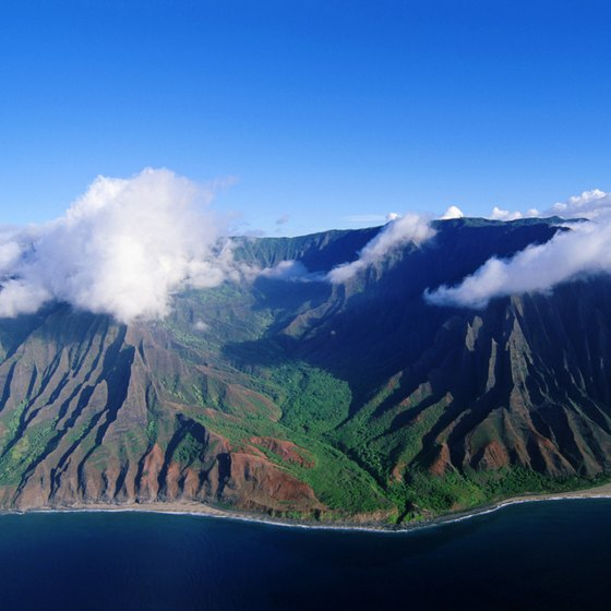 The island of Kauai is only accessible from other islands by air.