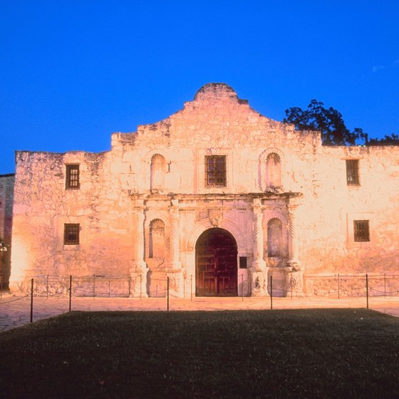 The original Alamo's construction was completed in 1744.