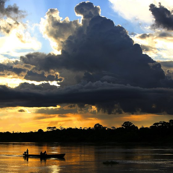 The Amazon River is the lifeblood of the Amazon jungle region.