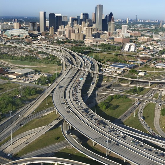 The I-10 and Highway 6 interchange is 20 minutes from downtown Houston.