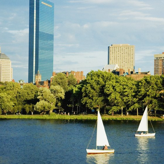 The Hatch Shell is an outdoor amphitheater on the shores of Boston's  Charles River.