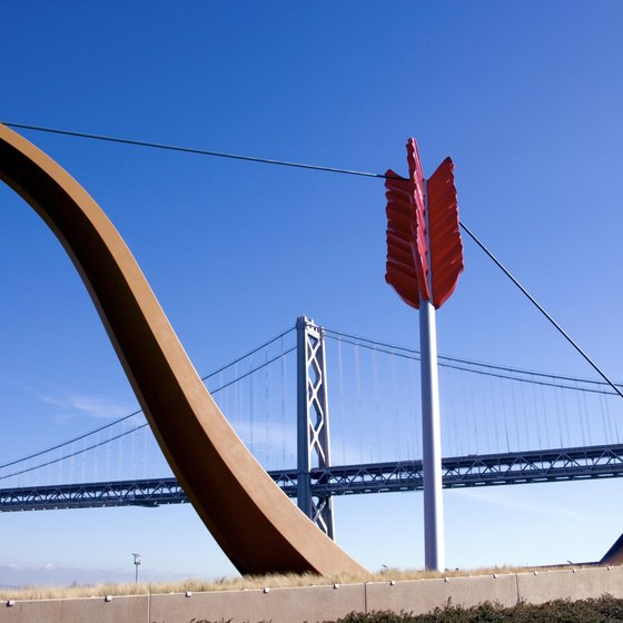 """Cupid's Span,"" a public art installment on San Francisco's waterfront, is just a few blocks from Boulevard."